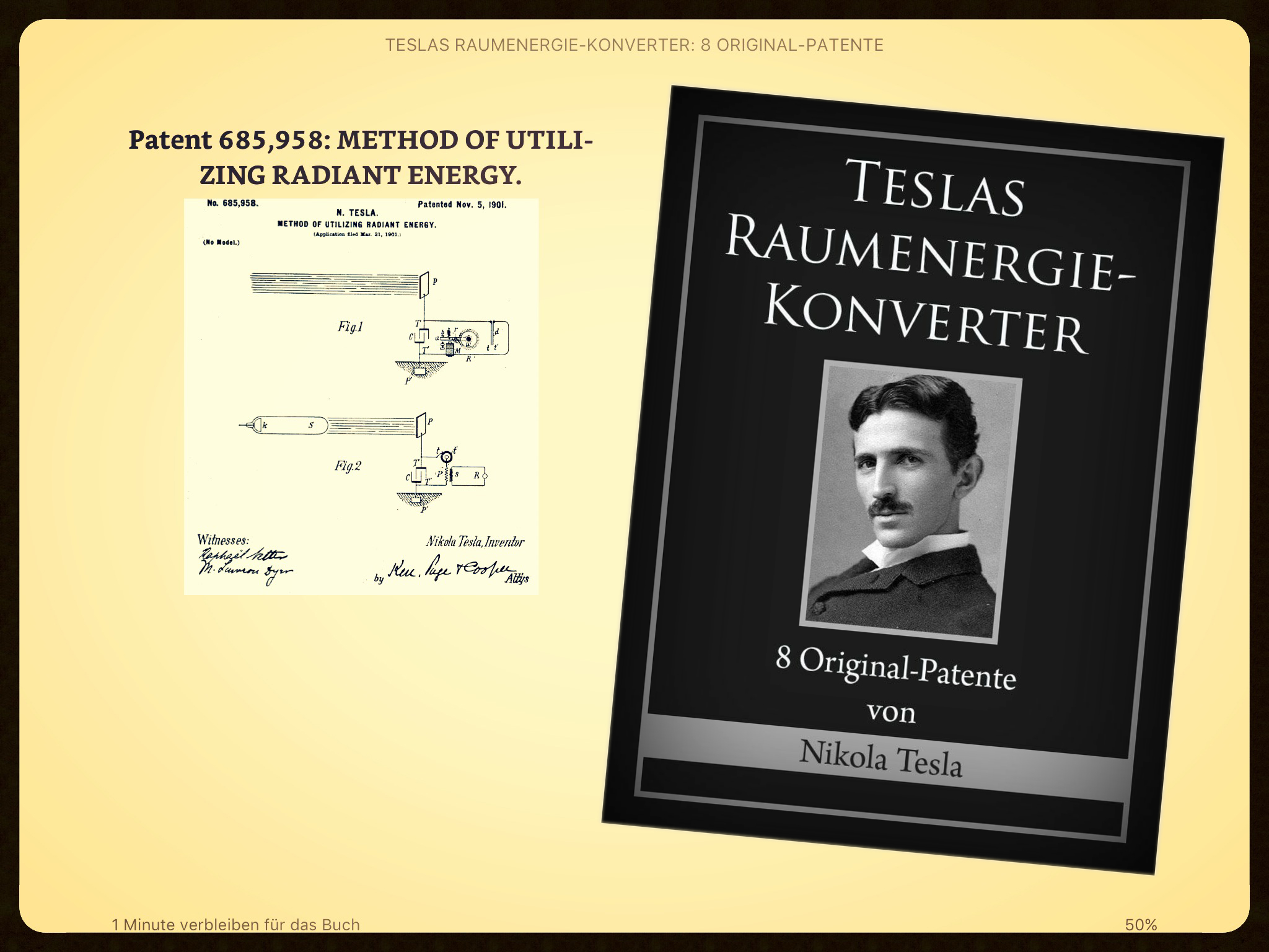 Original Tesla Patente